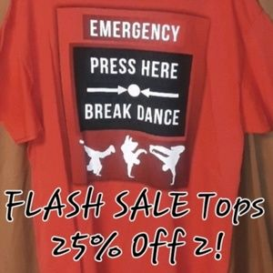 """** Classic Teaze """"EMERGENCY PRESS HERE.. Graphic T"""